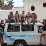 girls celebrating at chicabrava surf camp in Nicaragua