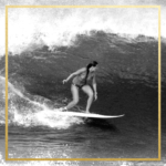Ashley Blaylock getting ready to enter the barrel of the wave