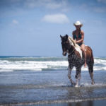 Horsebacking riding on beach in San Juan Del Sur Nicaragua
