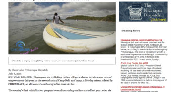 Chica Brava Camp Bella Featured on Nicaragua Dispatch!!!